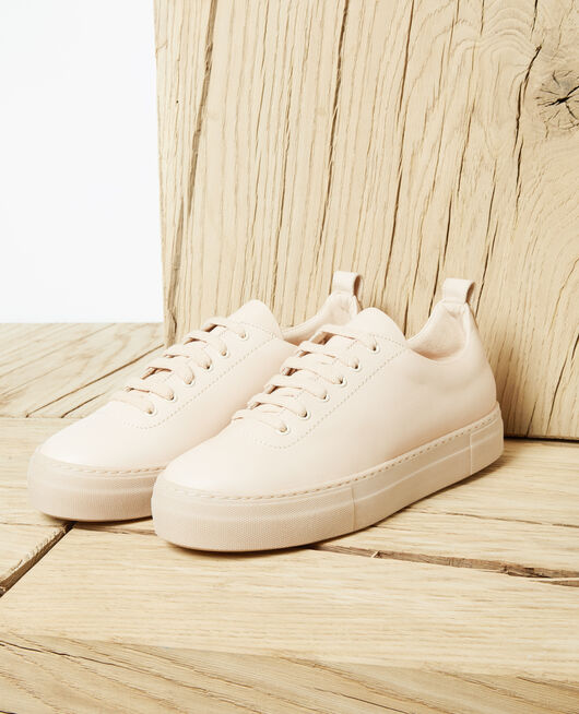 Sneakers à plateforme Beige