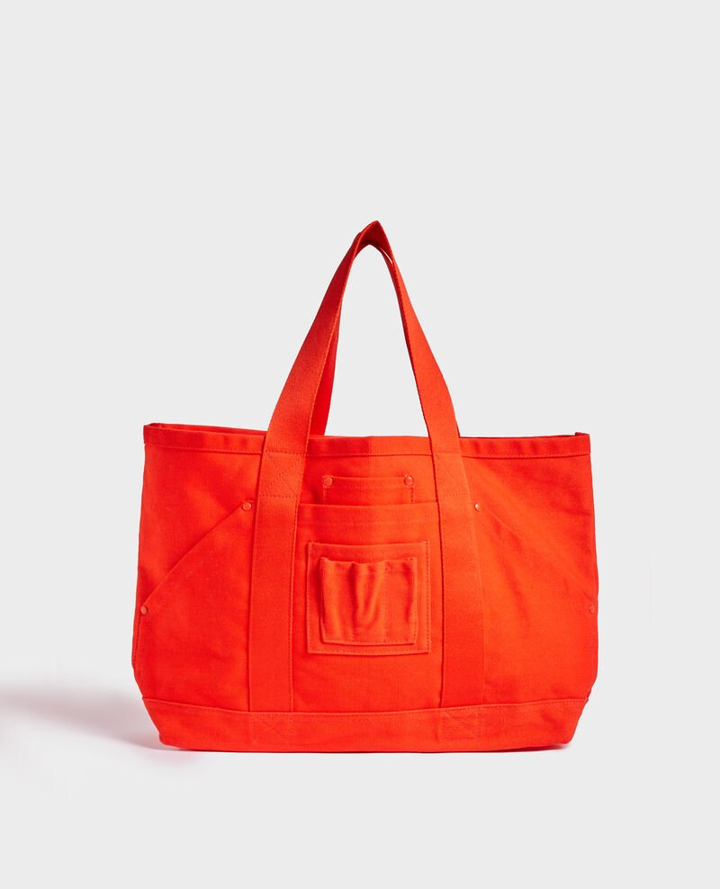 Tote bag en coton Spicy orange Naive