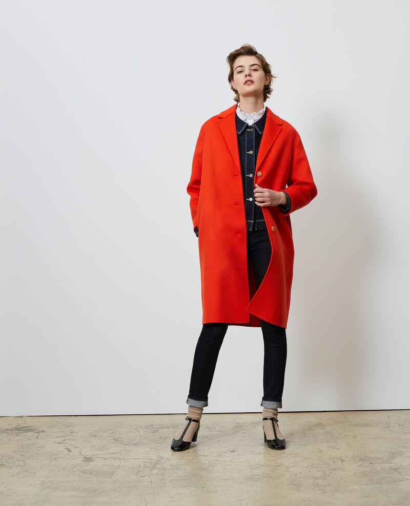 Manteau en laine Spicy orange Maclas