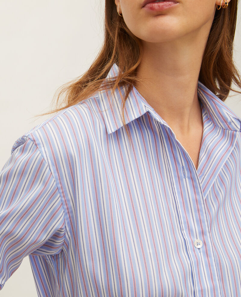 Chemise boyish en coton Popeline stripes Lynde