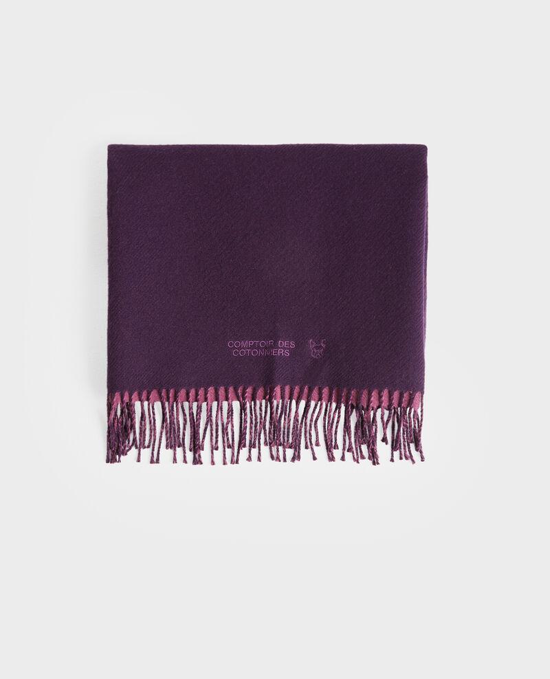 Écharpe réversible en laine Potent purple Pautes