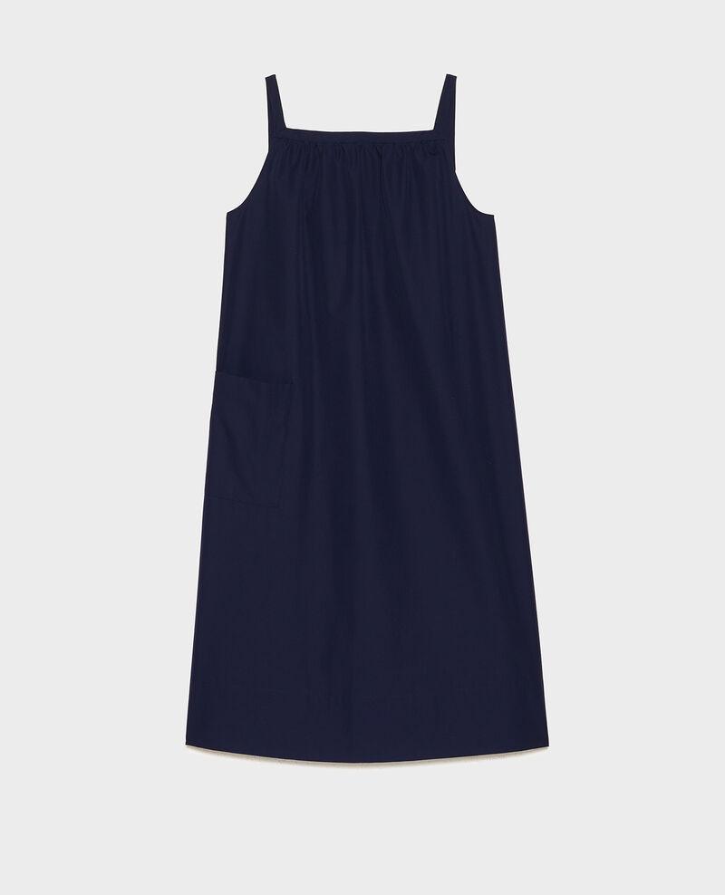 Robe évasée en popeline Maritime blue Lisle