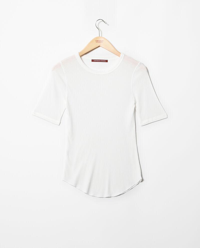 T-shirt côtelé Off white Ibabie