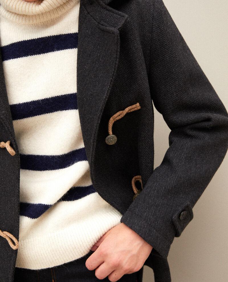 Manteau court de style duffle-coat Dark heather grey Gouziern