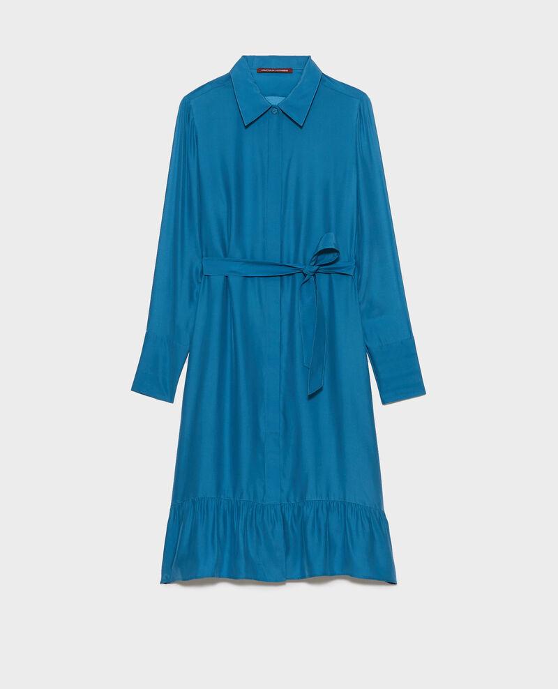 Robe chemise en soie Faience Nishiga