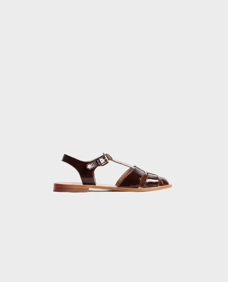 Sandales en cuir verni Mole Lapiaz