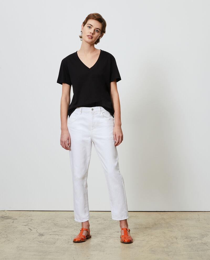 RITA - SLOUCHY - Jean ample taille mi-haute Winter white Meroni