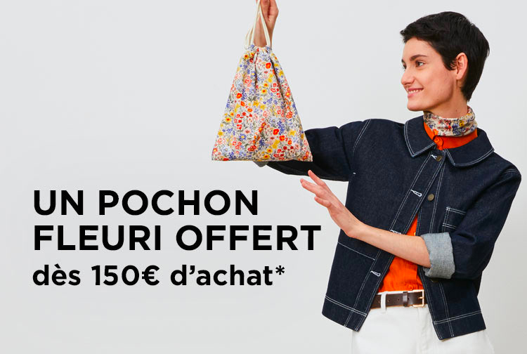 Un pochon offert dès 150€ - Mobile