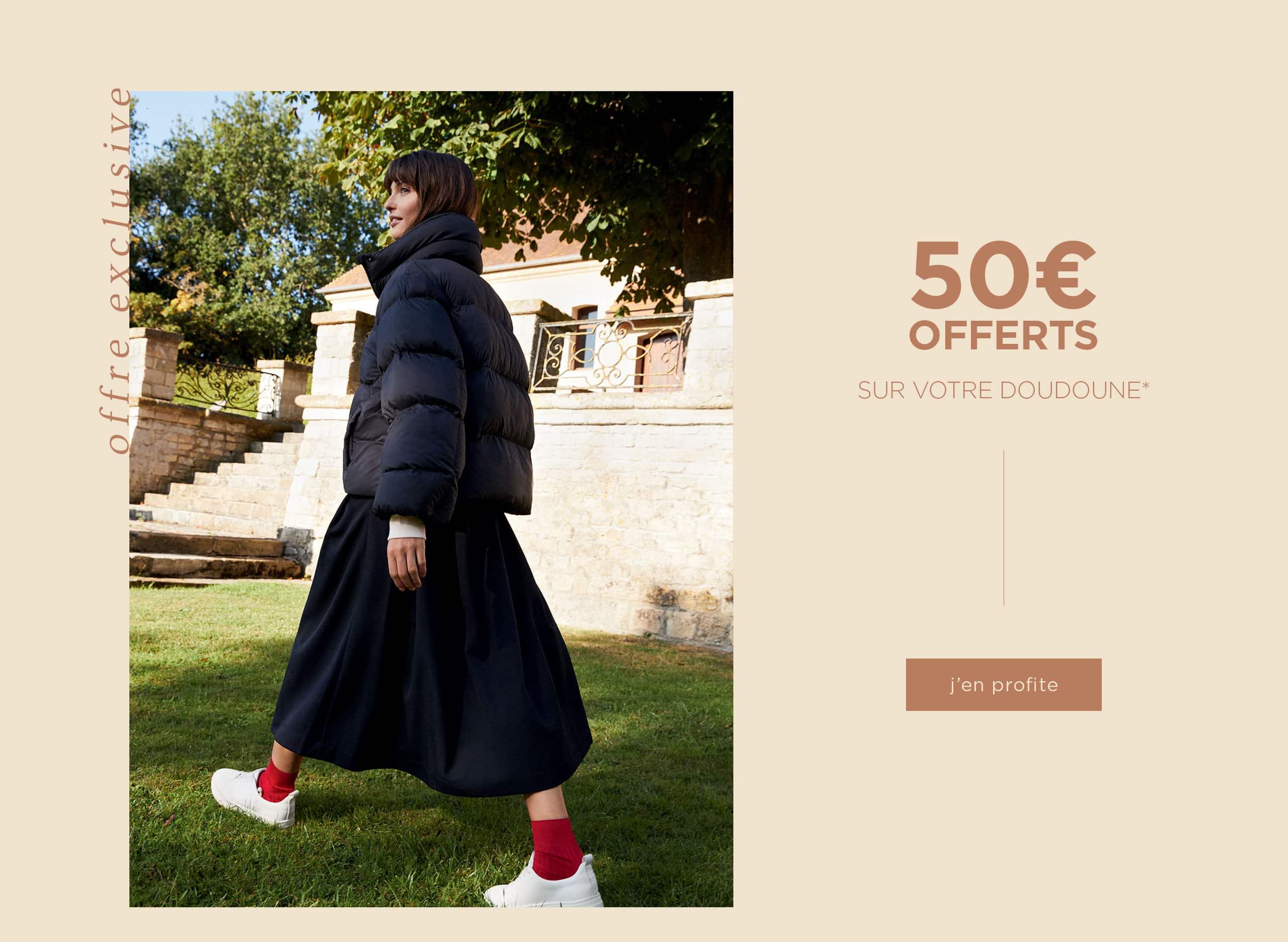 50€ offerts sur votre nouvelle doudoune