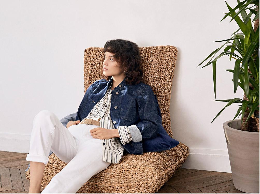 Look femme - Manteau en laine, Pull cachemire