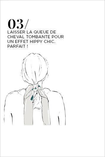 Porter un foulard dans les Cheveux  - Etape 3
