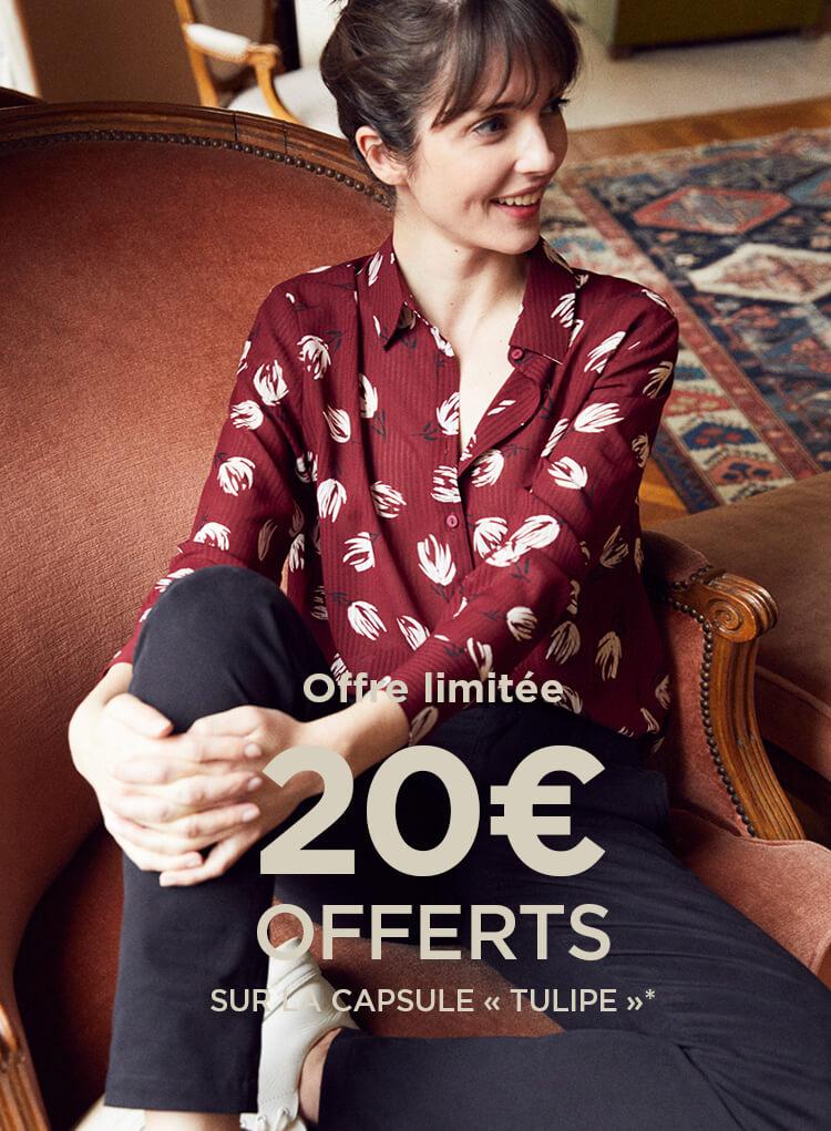 20€ offerts sur la capsule Tulipe