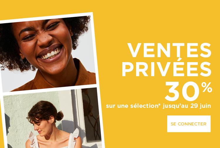 Ventes privées Se connecter - Mobile