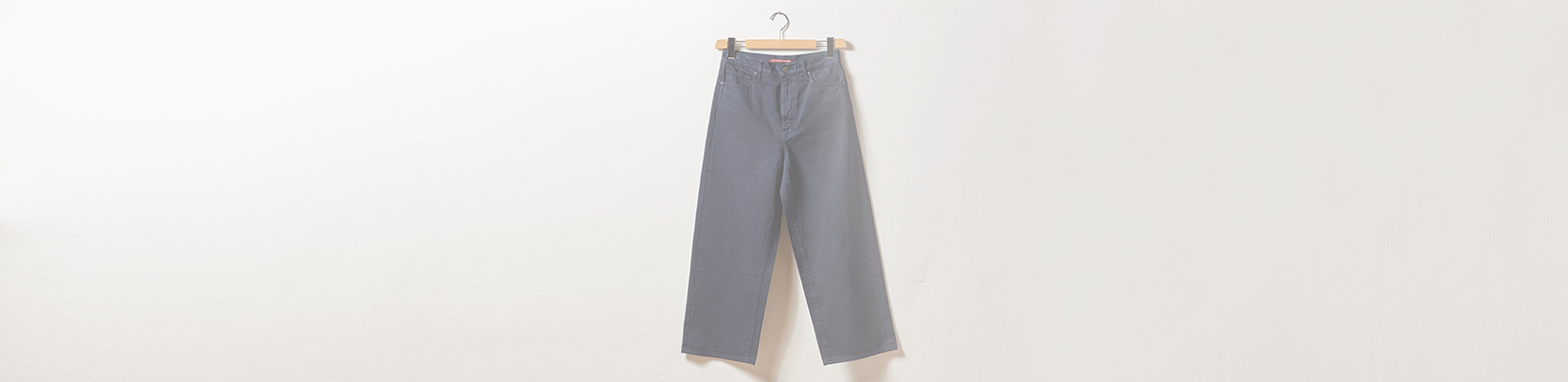 Jeans Wide Cropped pour femmes