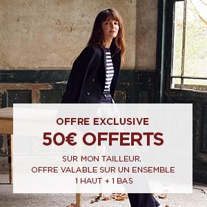50€ offerts sur mon tailleur
