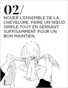 Porter un foulard dans les Cheveux - Etape 1