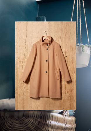 ON PARLE DE VOUS Veste courte en drap de laine Femme AH18