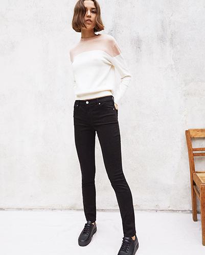 Jeans coupe slim pour femmes