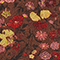 Blouse cache-cœur en soie fleurie Print eden tortoiseshell Mirebeau
