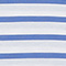 T-shirt en coton égyptien Stripes optical white amparo blue Lisou