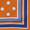 Foulard carré de soie à pois Pumpkin spice Nois