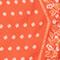 Foulard en soie format losange Spicy orange Nandana