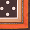 Foulard carré de soie à pois Black coffee Nois
