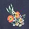 Robe longueur midi Fleurs navy Fidji