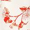 Robe longue en viscose crêpe Herbier gardenia ketchup Lavish