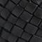 Ceinture large tréssée en cuir Black beauty Perles