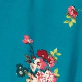 Chemise col esprit pyjama Fleurs pacific green Fashiona