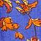 Robe courte en lin Indie-big-blue Nassandria