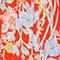 Robe courte imprimée Ete red small Nauvishort