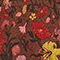 Jupe courte évasée en soie fleurie Print eden tortoiseshell Maurau