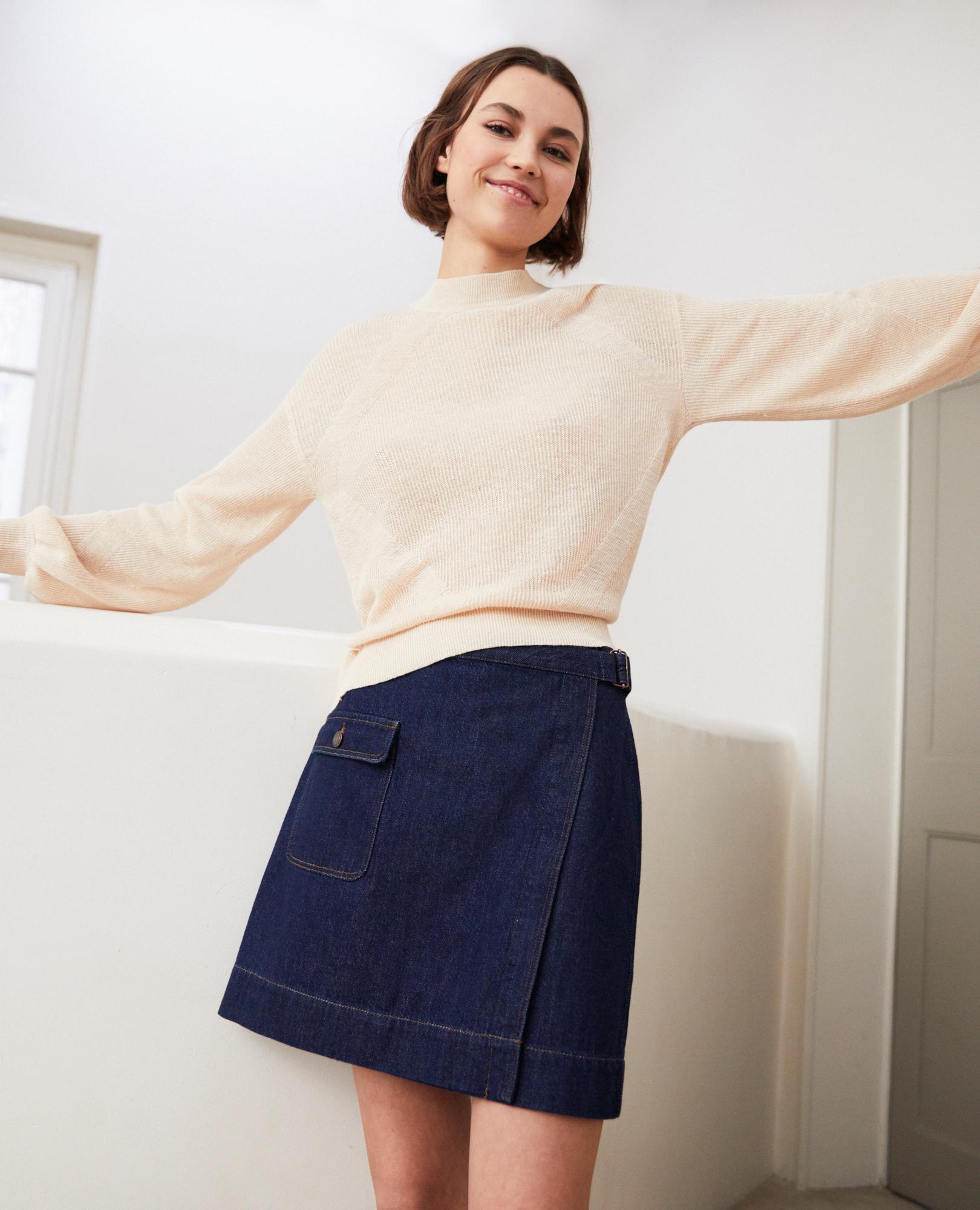 Des Jupe Droite Femme Courte Comptoir Mini Cotonniers qpapXrw
