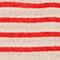 T-shirt en lin Stripes buttercream fiery red Logron