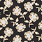 Chemise à manches longues à imprimé fleuri Print fleurettes black latte Manrant